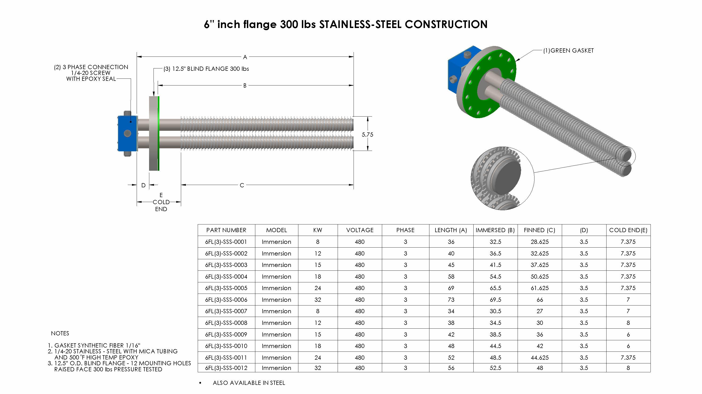 SS-6inch-flange-300lbs-Nema1