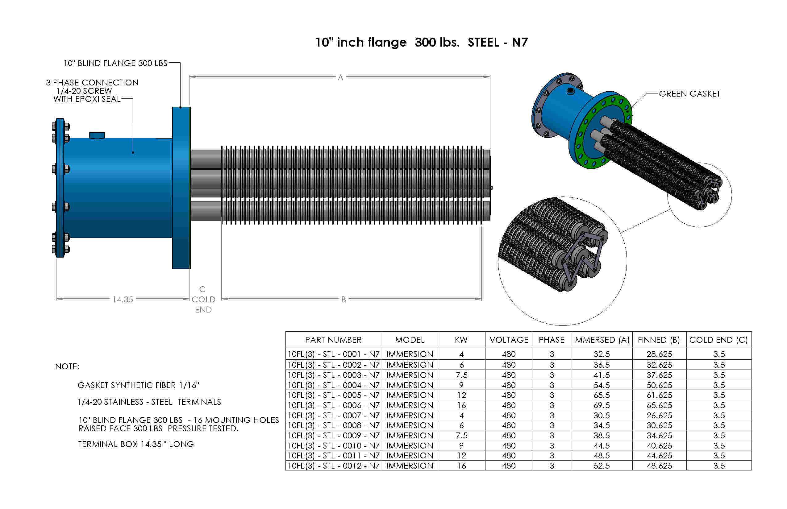 SS-10inch-flange-300lbs-Nema7