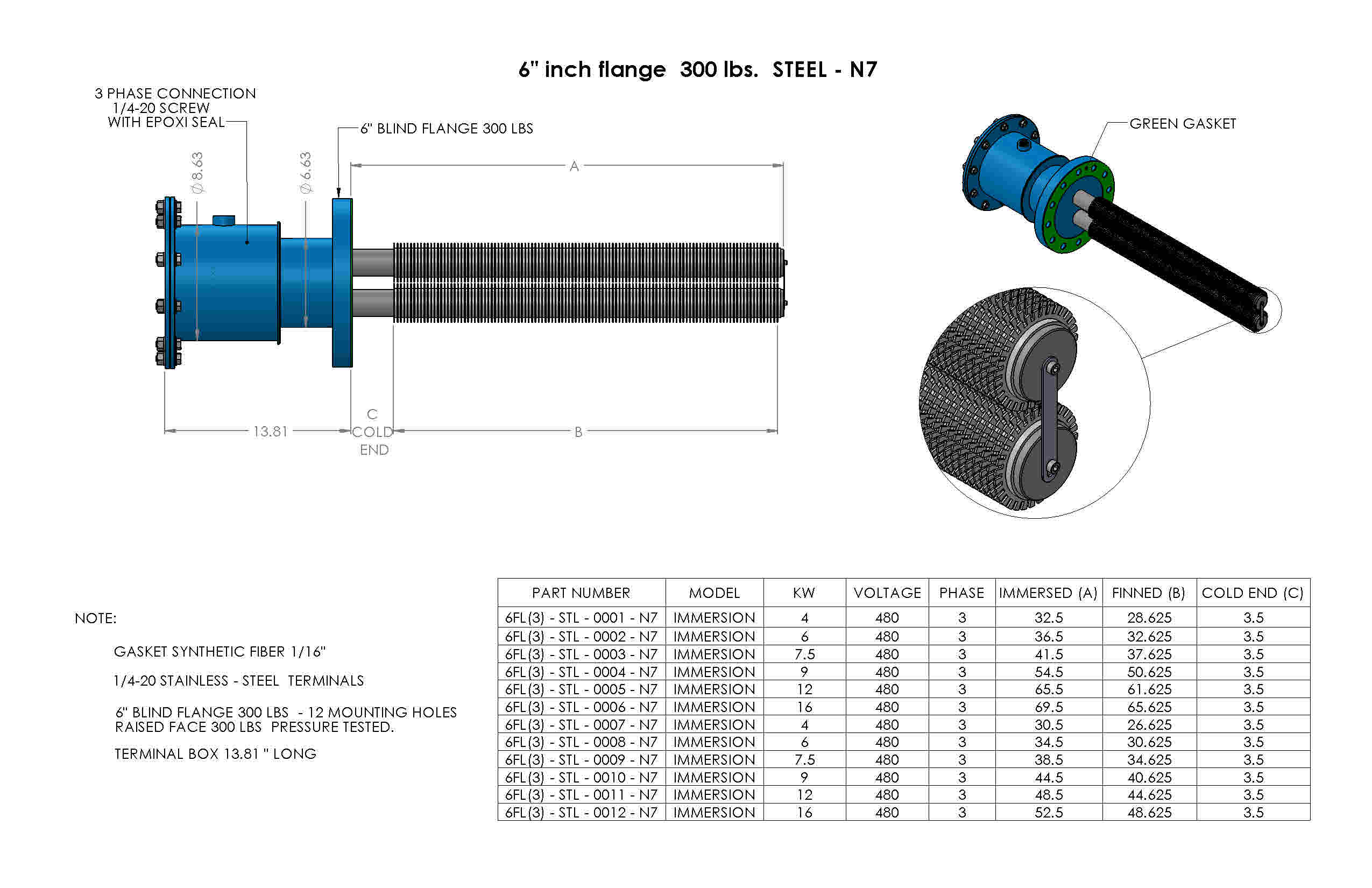 SS-6inch-flange-300lbs-Nema7
